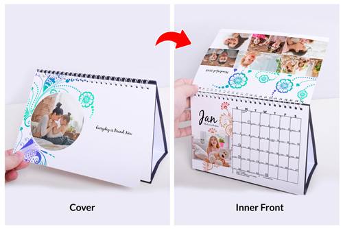 Desk Calendar 2018 Personalised With Your Own Photos Pixajoy
