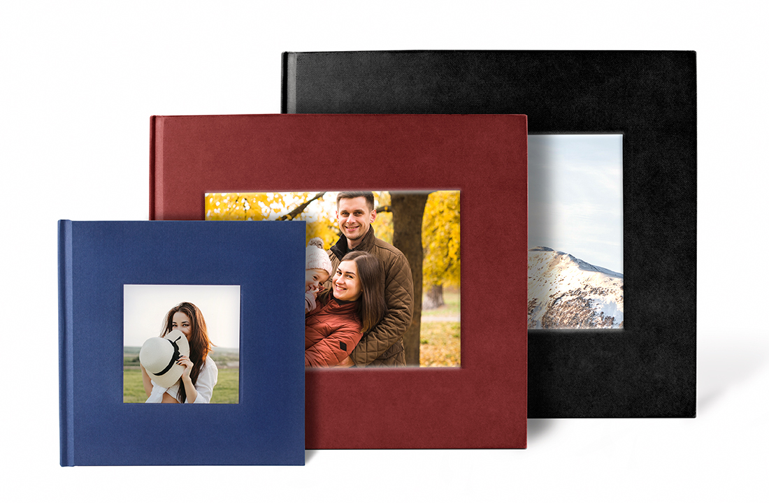 Square Debossed Hardcover Photo Book