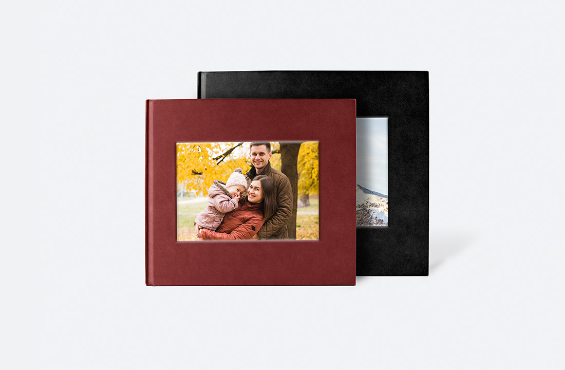 Square Debossed Hardcover Photo Book