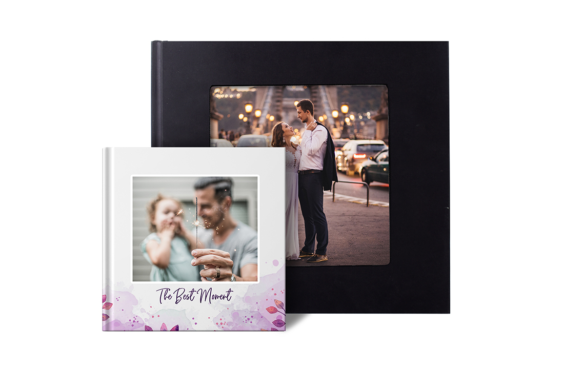 Square Flush Mount Photo Book