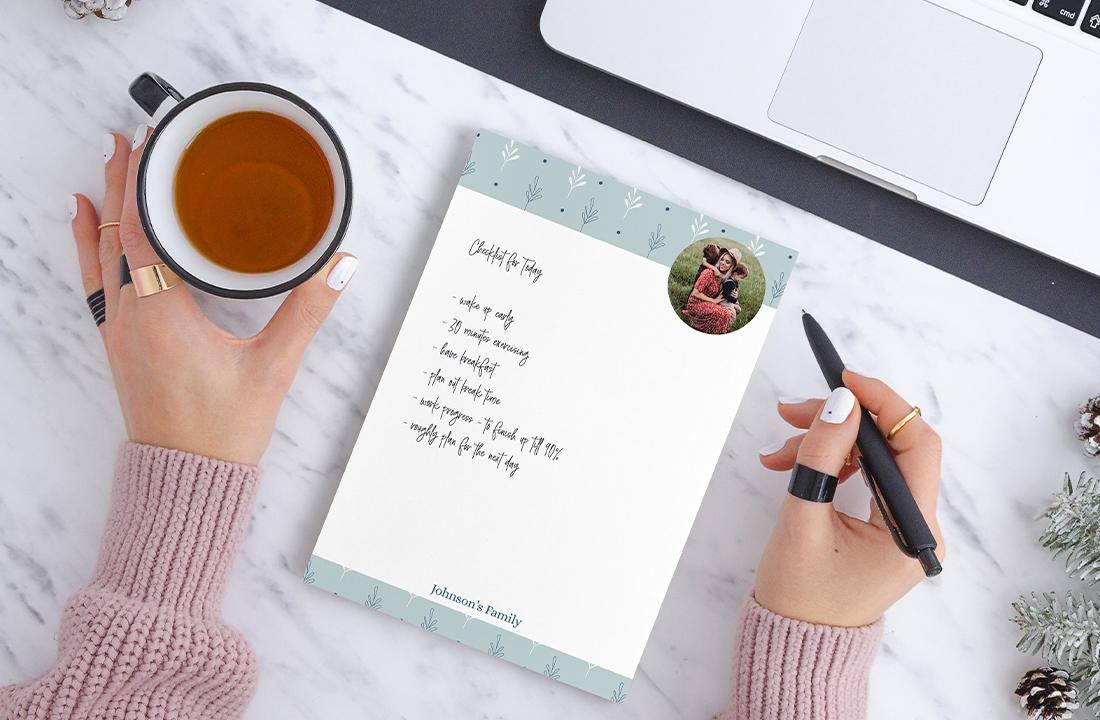 checklist photo notepad